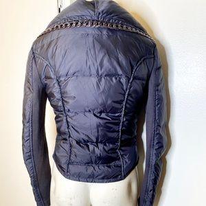 BCBGMaxAzria Jackets & Coats - Bcbgmaxazria Navy Puffy Jacket w Chain Trim S